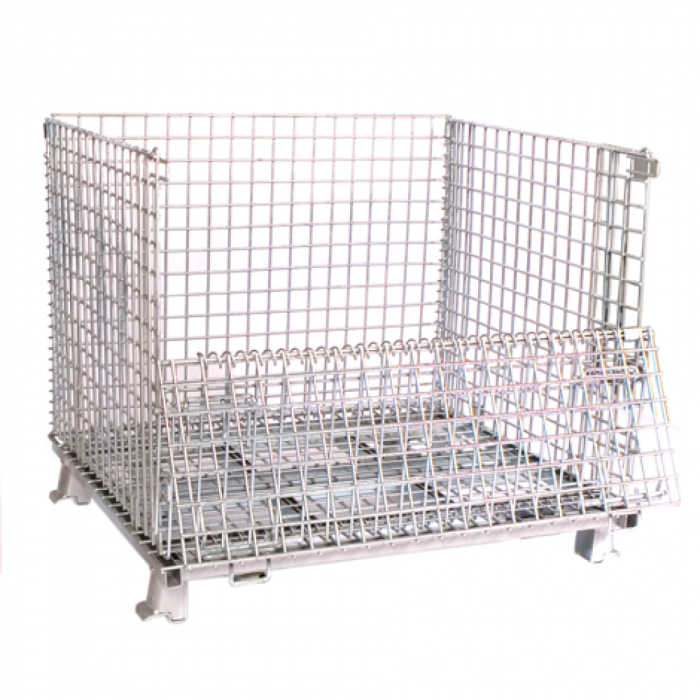 Large 40 X 48 Wire Mesh Container W 5 404836 Cherry S Material Handling